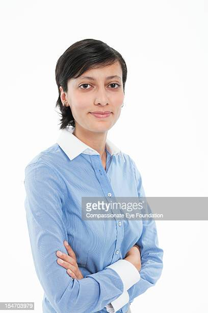 portrait of smiling young businesswoman - compassionate eye foundation stock pictures, royalty-free photos & images