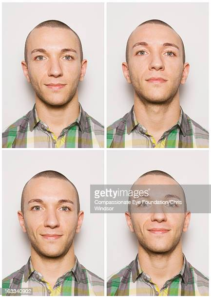 Portrait of smiling young man in photo booth