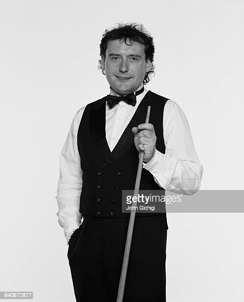 Portrait of snooker player Jimmy White of Great Britain during the World Snooker Championship on 22 April 2002 at the Crucible Theatre in Sheffield...