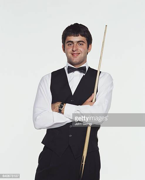 Portrait of snooker player Ronnie O'Sullivan of Great Britain during the World Snooker Championship on 22 April 2002 at the Crucible Theatre in...