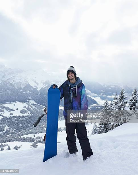Portrait of snowboarder in The Alps.