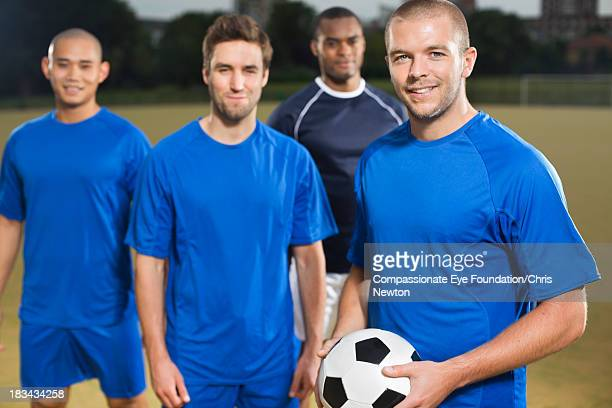 Portrait of soccer players