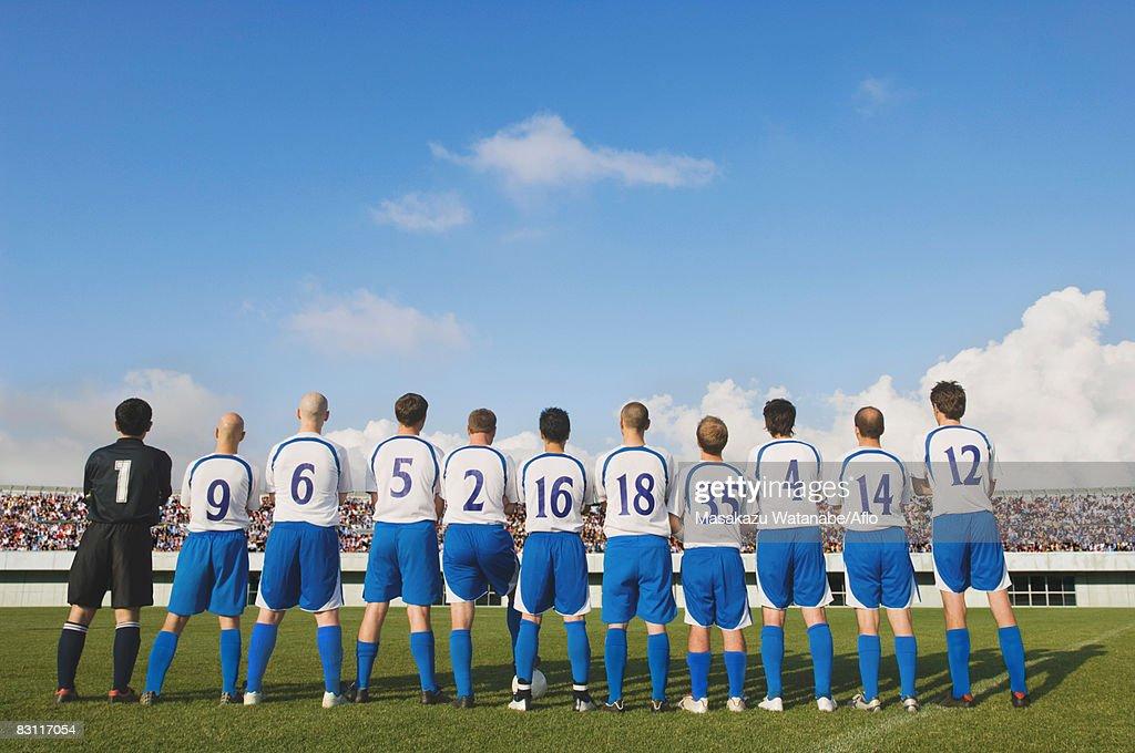 Portrait of Soccer Team : Stock Photo
