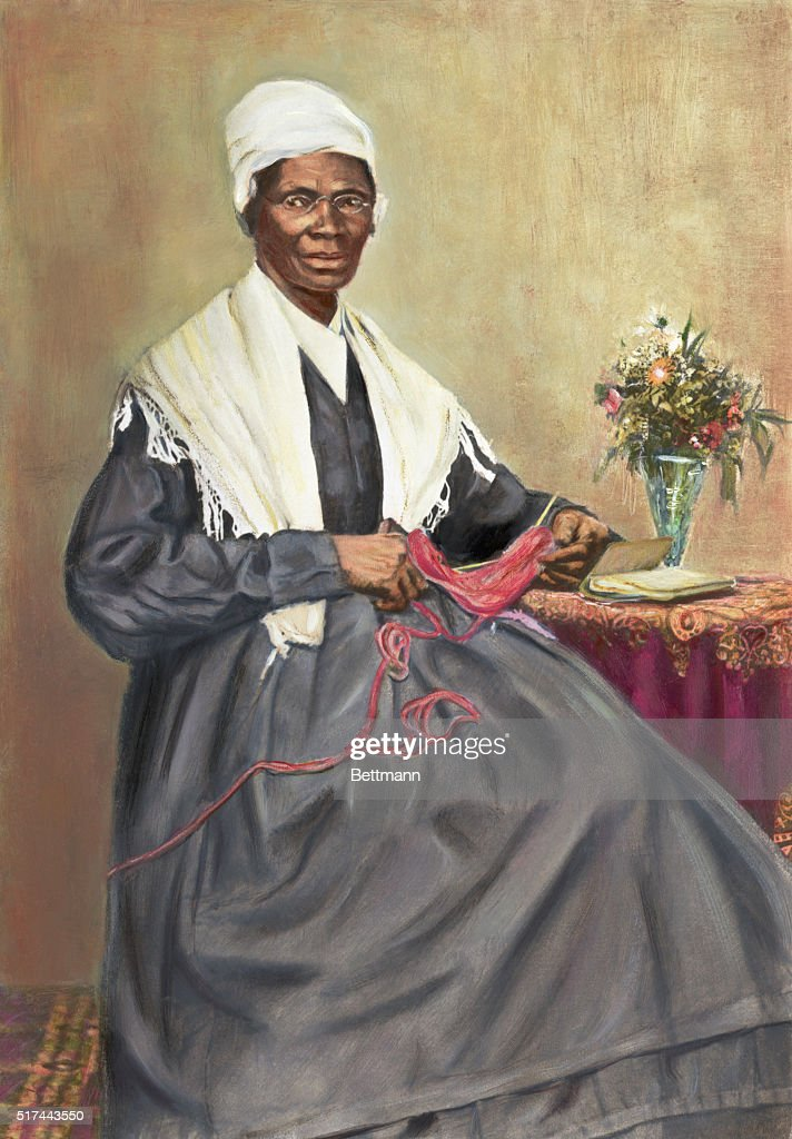 Portrait of Sojourner Truth (ca. 1797-1883), leader of the Underground Railroad. Undated hand-colored illustration.