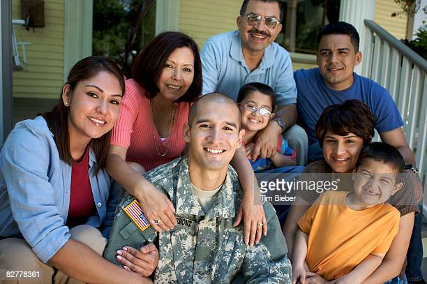 portrait of soldier in uniform  - us military stock pictures, royalty-free photos & images