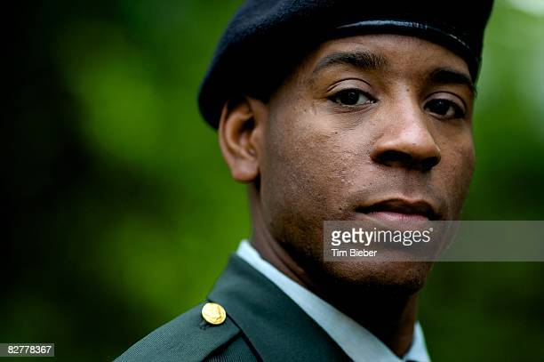 portrait of soldier in uniform  - army soldier stock pictures, royalty-free photos & images