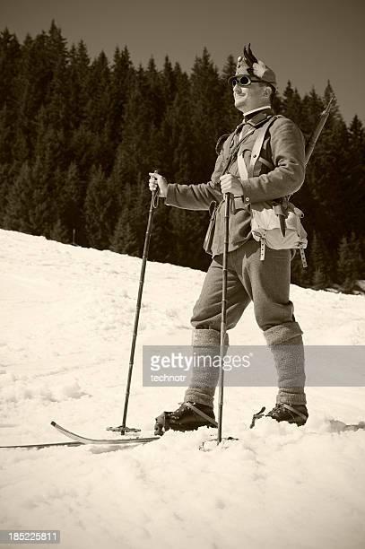 Portrait de soldier skieur