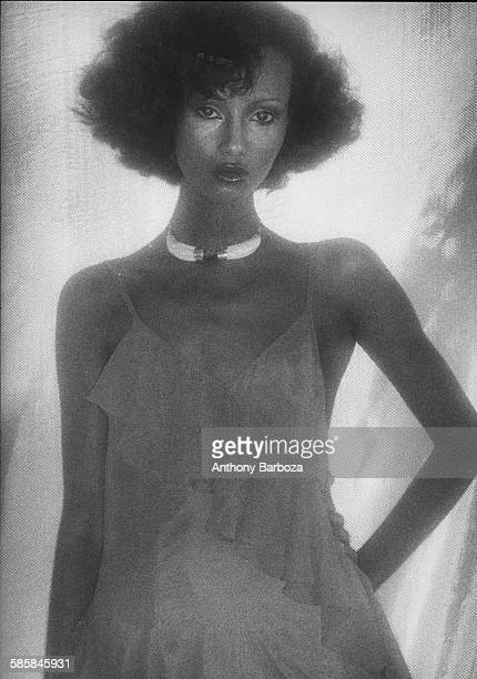 Portrait of Somaliborn American fashion model Iman New York 1970s