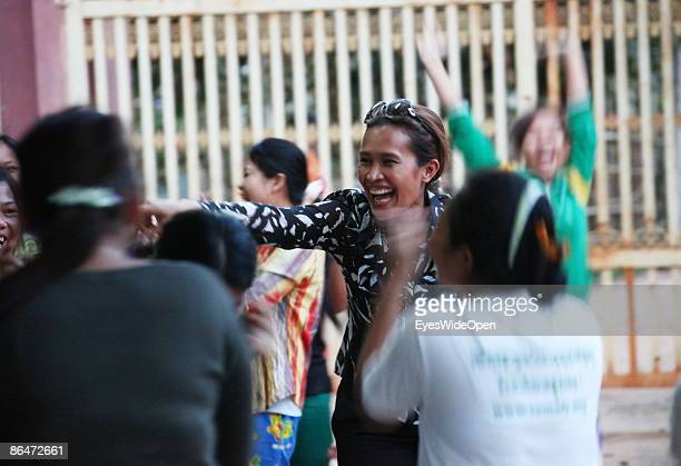 Portrait of Somaly Mam and her AFESIP Organisation and the Somaly Mam Foundation founded by Somaly MAM a former victim of children trafficking in...