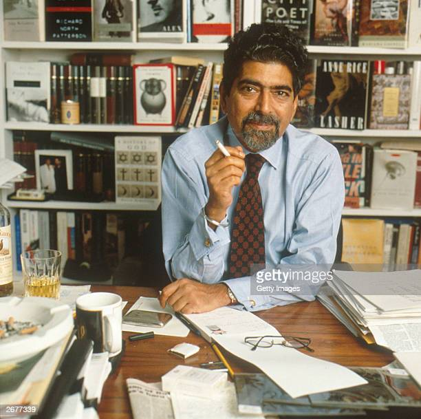 Portrait of Sonny Mehta President and EditorinChief of publishing company Alfred A Knopf seated at his desk circa 2001 Mehta announced that Alfred A...