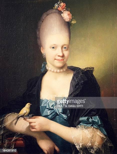 Portrait of Sophie Charlotte De Thygesen painting by Jens Juel 1771 Aarhus Kunstmuseum