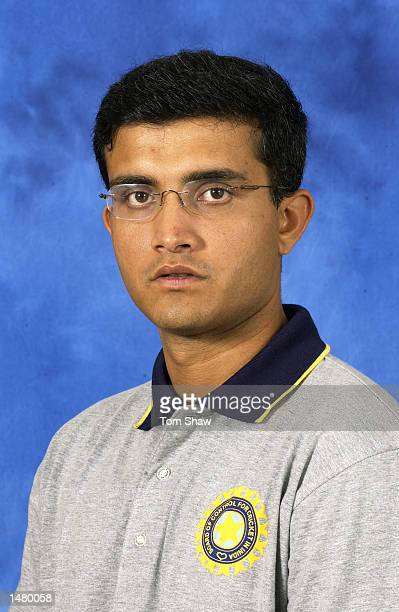 Portrait of Sourav Ganguly of India taken before the ICC Champions Trophy in Colombo Sri Lanka on September 13 2002