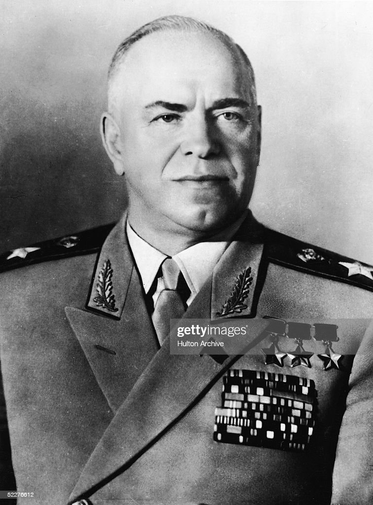 Soviet Military Commander Georgi K. Zhukov : News Photo