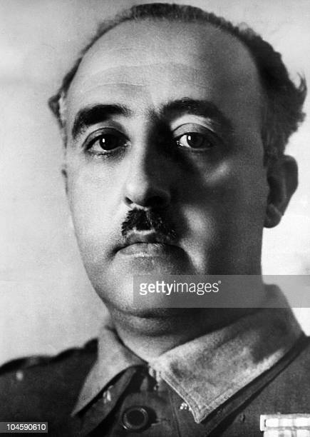 A portrait of Spain Generallisimo Francisco Franco dated probably 1936