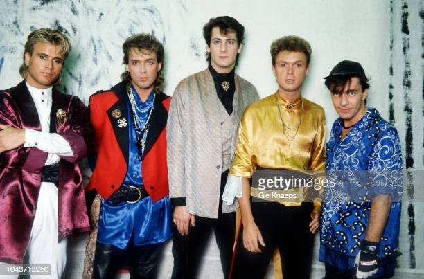 Portrait of Spandau Ballet Tony Hadley Gary Kemp Martin Kemp John Keeble Steve Norman Brielpoort Deinze Belgium 2nd February 1985