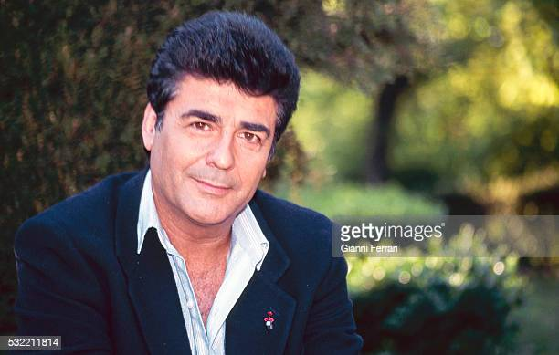 Portrait of Spanish actor Maximo Valverde as he poses outdoors Madrid Spain 1997