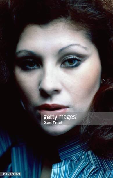 Portrait of Spanish actress Jenny Llada Madrid Spain 1979
