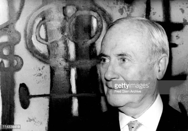 Portrait of Spanish artist Joan Miro 1965