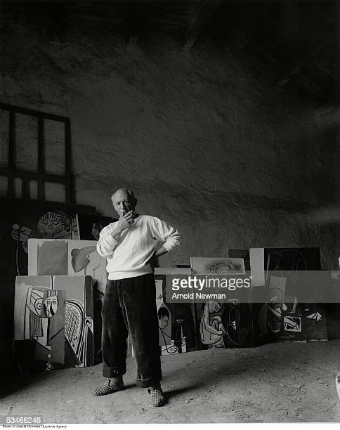 Portrait of Spanish artist Pablo Picasso June 2 1954 in Vallauris France Picasso is considered by many to be the foremost figure in 20th century art