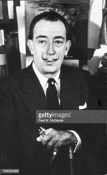 Portrait of Spanish artist Salvador Dali New York New York October 4 1963