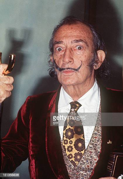 A portrait of Spanish artist Salvador Dali taken January 1972 in Paris One of his bestknown paintings is 'The Persistence of the Memory' AFP PHOTO