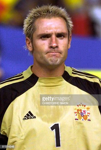 Portrait of Spanish goalkeeper Jose Antonio Canizares Ruiz known as Jose Canizares taken 01 September 2001 in Valencia before the 2002 World Cup...