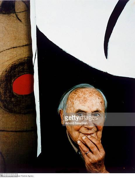 Portrait of Spanish Surrealist painter Joan Miro March 22 1979 in Mallorca Spain