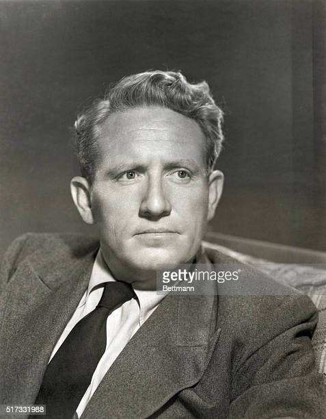 Portrait of Spencer Tracy , American actor. Metro-Goldwyn-Mayer. Undated photograph. Publicity still