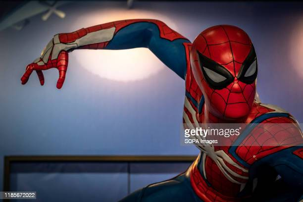 A portrait of SpiderMan seen during the festival The NiceOne Barcelona Gaming Digital Experiences Festival dedicated to the video game industry and...