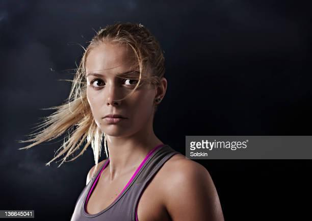 portrait of sport woman