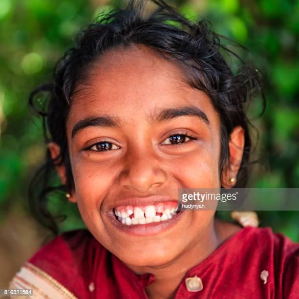 Portrait de petite fille Sri-lankais