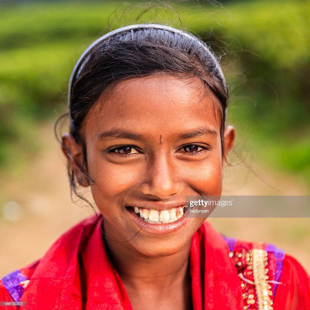 Sri Lankan Young Girl Using A Digital Tablet Nuwara Eliya