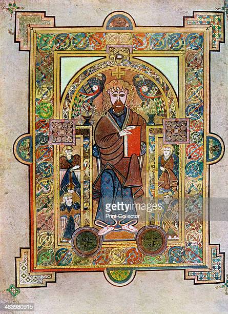 Portrait of St Mark or St Luke 800 AD A 20thcentury copy of the illustrated manuscript produced by Celtic monks around AD 800 Illustration from The...