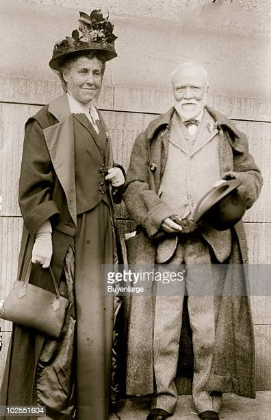 Portrait of steel magnate Andrew Carnegie and his wife Louise Whitfield ca1910s