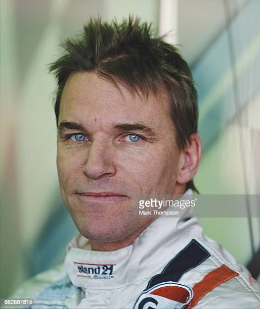 Portrait of Stefan Johansson of Sweden driver of the Johansson Motorsport LMP900 Audi R8 Audi turbo V8 during the pre race test days for the FIA...