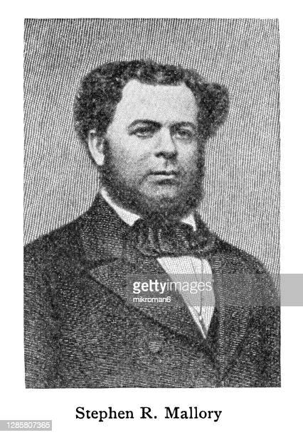 portrait of stephen russell mallory, former american senator and secretary of the navy - former stock pictures, royalty-free photos & images