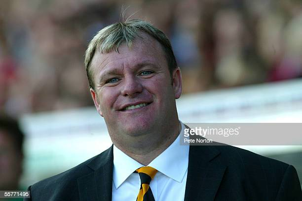 A portrait of Steve Evans manager of Boston United during the Coca Cola League Two match between Northampton Town and Boston United at Sixfields...
