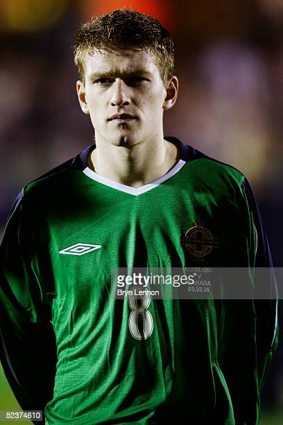 A portrait of Steven Davis of Northern Ireland prior to the International Challenge match between Northern Ireland and Canada at Windsor Park on...