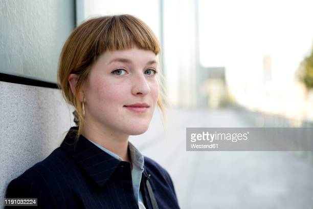 portrait of strawberry blonde young woman with nose piercing - fringe stock pictures, royalty-free photos & images