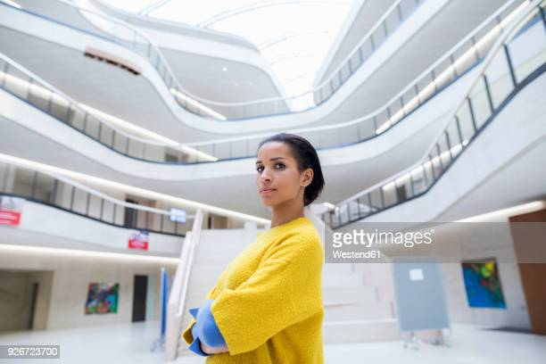 portrait of student in university - arrogance stock pictures, royalty-free photos & images