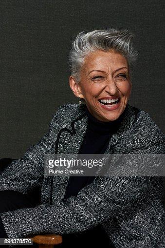 Portrait of Stylish Mature Woman