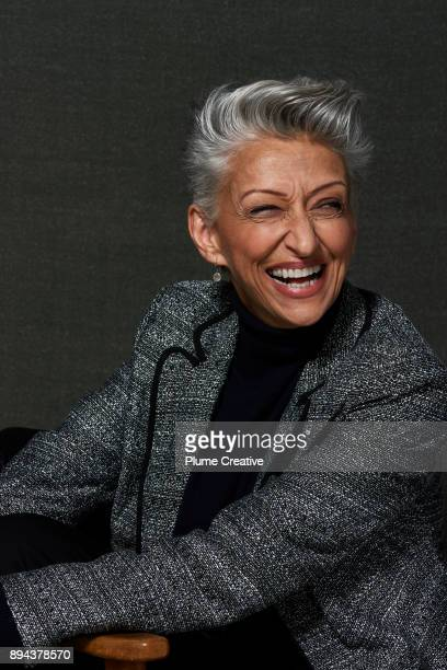 Portrait of Stylish Mature Woman