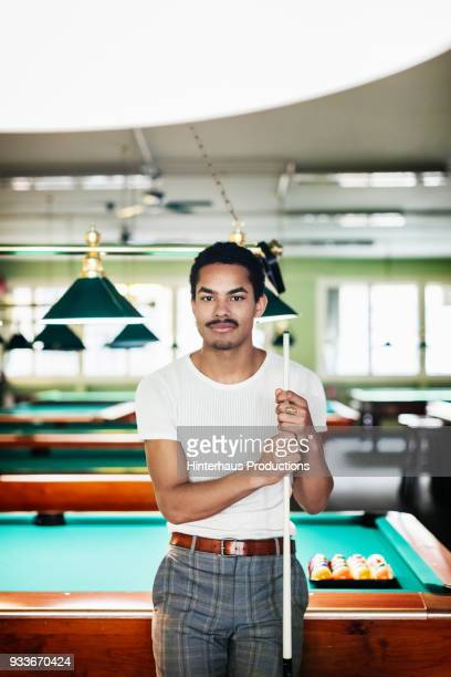 Portrait Of Stylish Young Pool Player