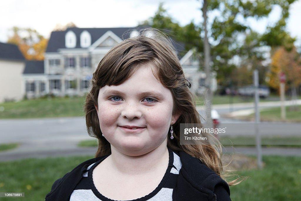 Portrait of suburban girl : Stock Photo