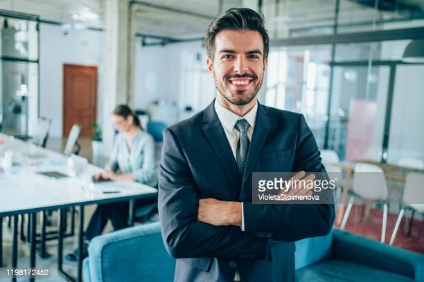 portrait of successful businessman. - bank manager stock pictures, royalty-free photos & images