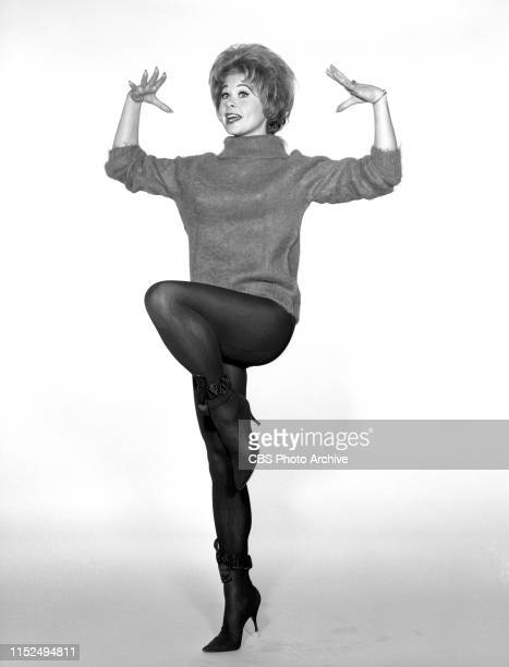 Portrait of Sue Ane Langdon Actress in the CBS television comedy variety program The Jackie Gleason Show The American Scene Magazine She portrays...