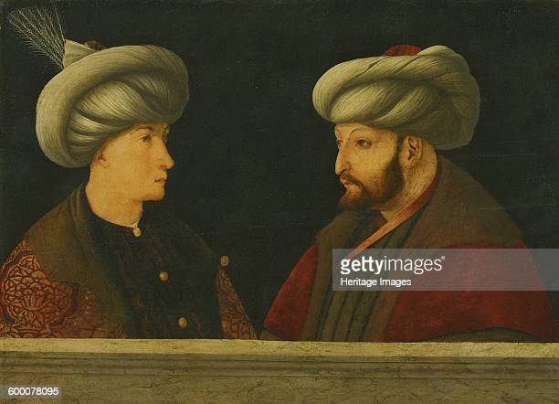 Portrait of Sultan Mehmed II with a young dignitary Private Collection Artist Bellini Gentile
