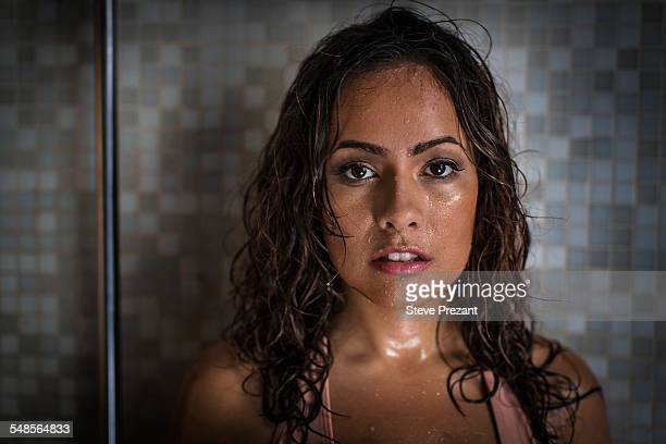 portrait of sultry woman - hot latina women stock photos and pictures