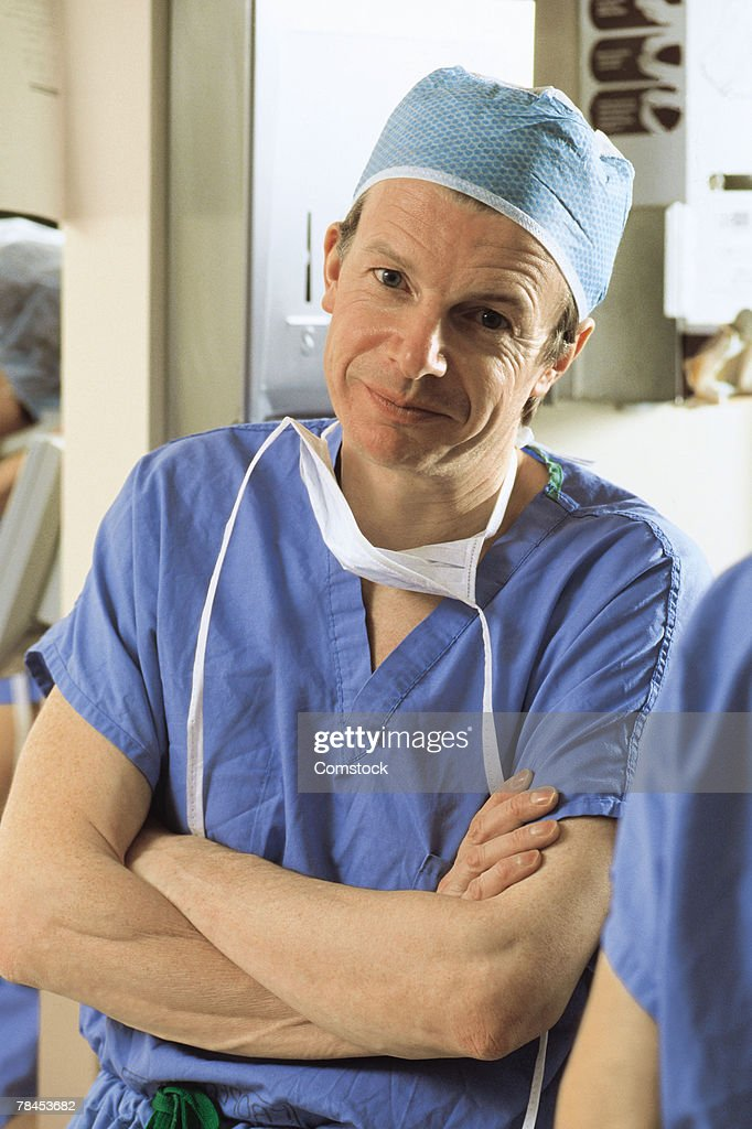 Portrait of surgeon : Stockfoto
