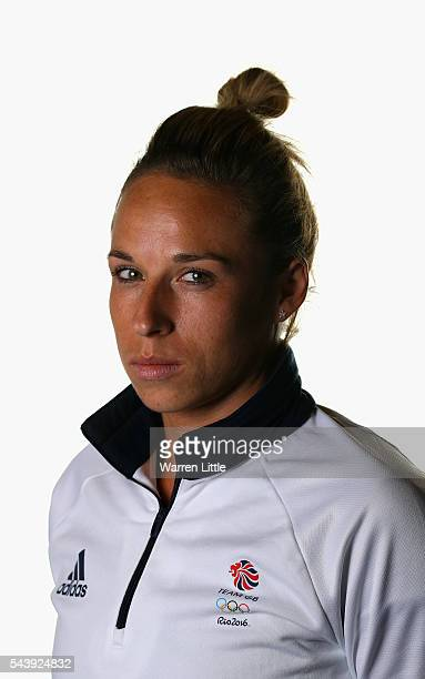 A portrait of Susannah Townsend a member of the Great Britain Olympic team during the Team GB Kitting Out ahead of Rio 2016 Olympic Games on June 30...